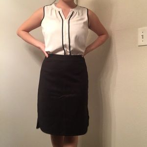 Kate Spade Black Pencil Skirt with Side Slits